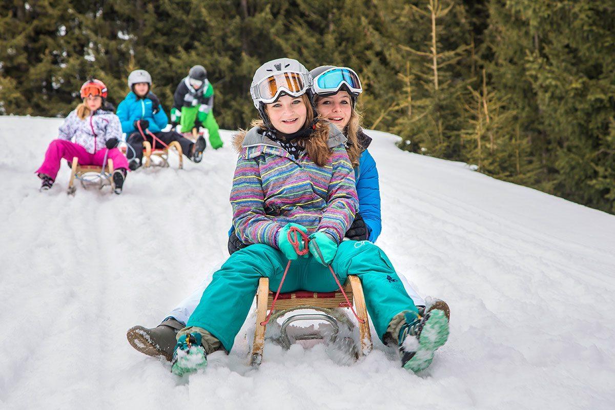 Rodeln in der Wintersportwoche im Salzburger Land