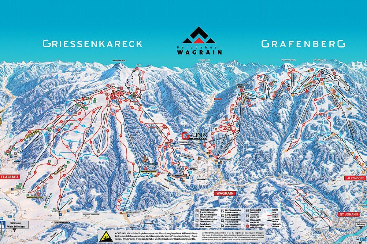 Pistenpanorama - Skigebiet Wagrain-Kleinarl