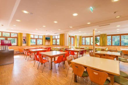 Speisesaal für bis 140 Personen, Jugendhotel in Wagrain